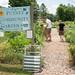 Radha, Erik & Tyler at Putney Community Garden