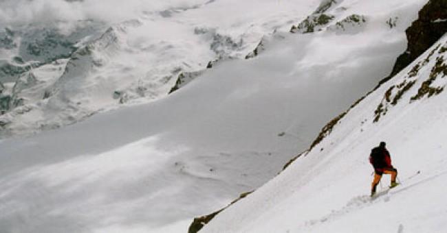 Bernina: přejezd ledovce Morteratsch