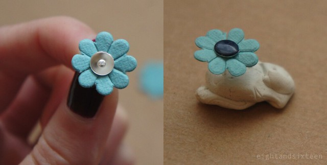 diy flower earrings by eight and sixteen