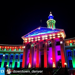 @downtown_denver has flipped the switches and is sparkling for the holidays! #downtowndenver #favoriteplacedenver . . . Our favorite time of the year has arrived in Downtown Denver and it sure is a beautiful sight!