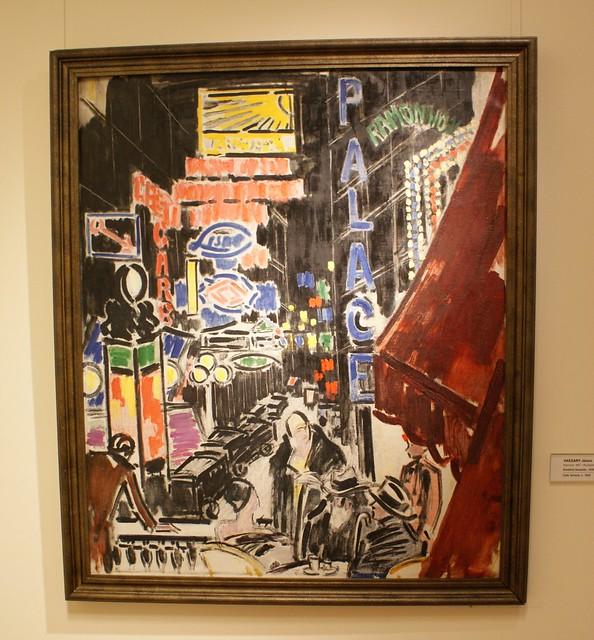 > Oeuvre expressionniste représentant le Berlin des années folles.