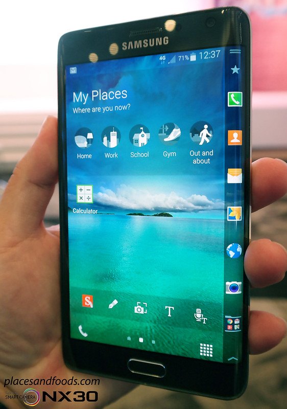 galaxy note edge front view