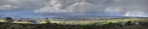 panorama snow rain clouds landscape countryside rainbow wideangle devon day13 dartmoor hdr 252 hss southdevon 13365 shotoftheweek canyouseeyourhousefromhere 5x3shots westdartmoorpanorama yesitsthesameoldviewgetusedtoit