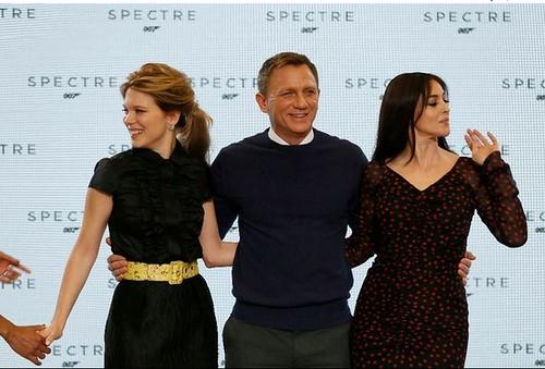 """La actriz francesa Lea Seydoux y la italiana Monica Bellucci estarán junto con Daniel Craig en la nueva película de James Bond, """"Spectre"""". Foto Reuters"""