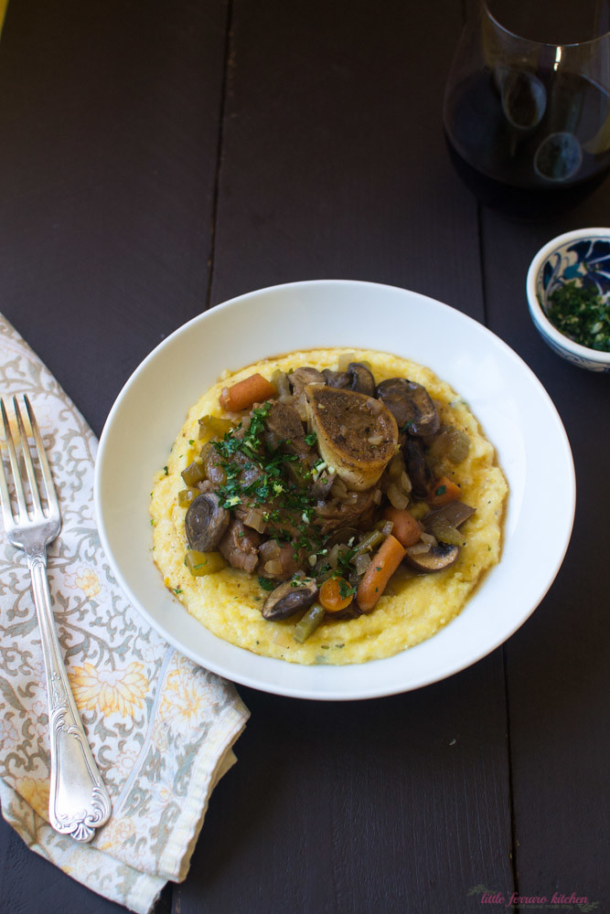 Osso Buco with Polenta and Gremolata via LittleFerraroKitchen.com