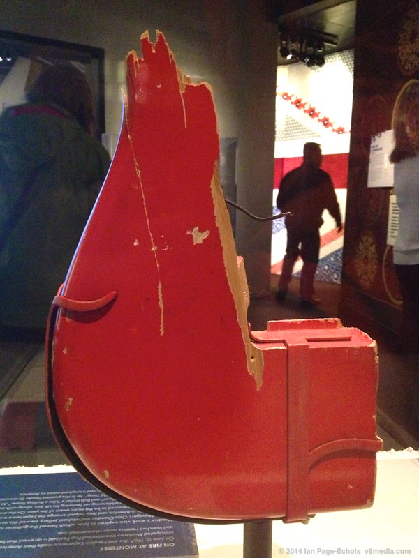 Jimi's red guitar with no writing on the back at the EMP