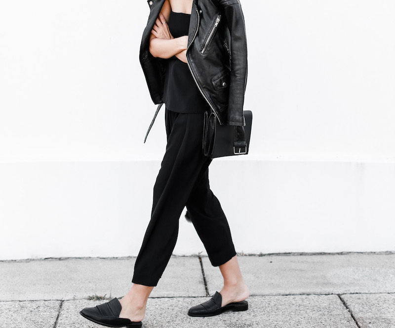 MODERN LEGACY fashion blog Australia all black minimalist street style Matches Fashion BLK DNM leather biker jacket (4 of 9)
