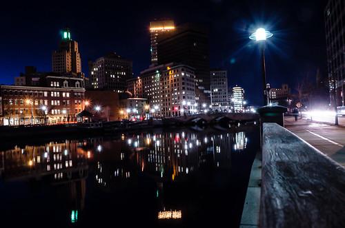 Providence Night Skyline by John, via I {heart} Rhody