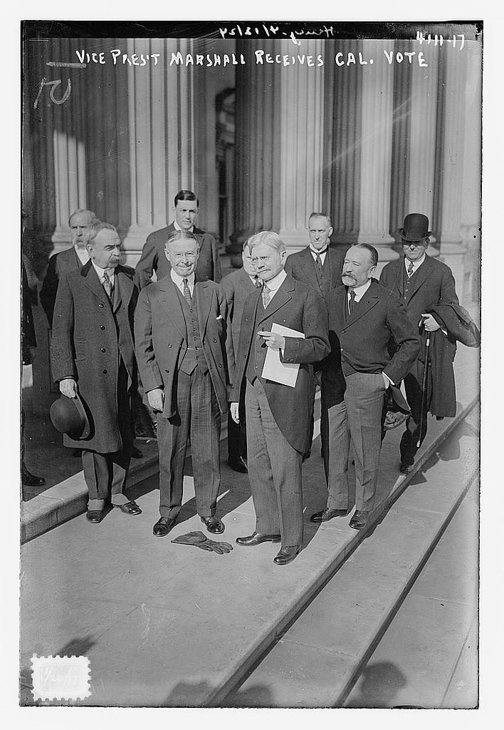 Vice Pres. Marshall receives Cal. Vote (LOC)