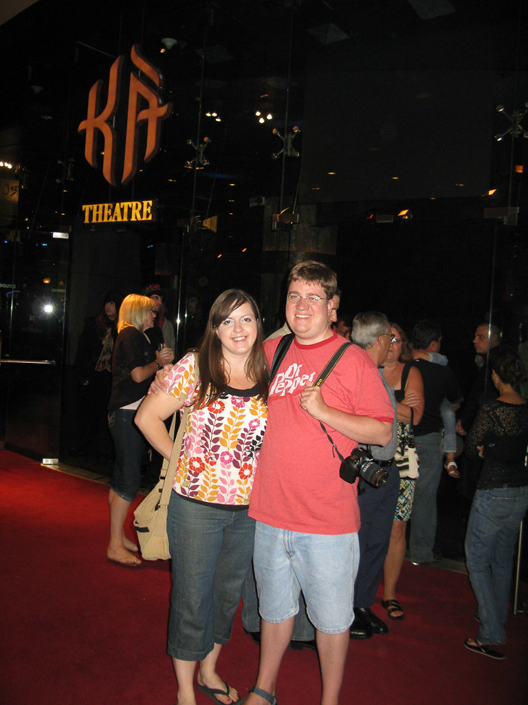 Ken and I after Ka theater