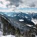 Winterlicher Ausblick vom Pendling nach Westen