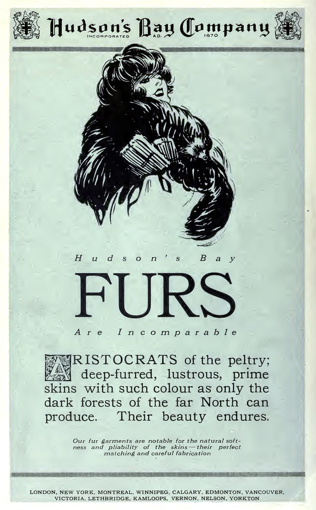 Hudson's Bay Furs Are Incomparable (1922)