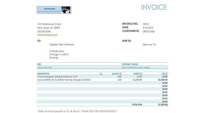 Red Invoice