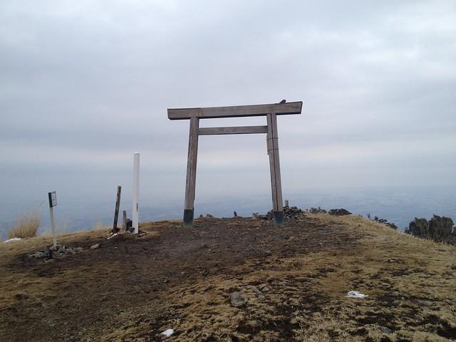 入道ヶ岳 山頂 椿大社