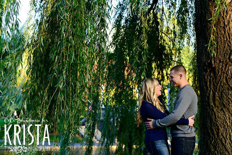 Engagement Portrait Session at Boston Public Garden