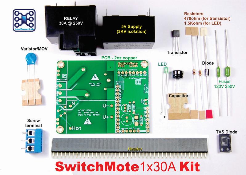 SwitchMote1x30A Kit