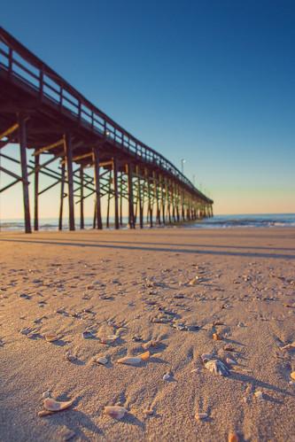 ocean sea sky shells grass seashells sunrise pier nc sand dunes northcarolina atlantic oceanisle