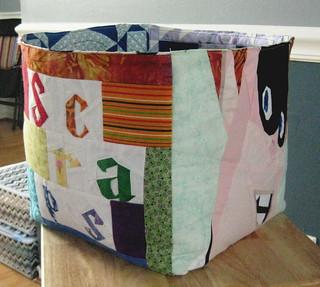 Fabric box for scraps