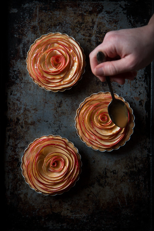 Caramel Apple Rose Tarts, made with Cajeta | Will Cook For Friends