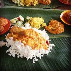 fish(0.0), produce(0.0), meal(1.0), curry(1.0), steamed rice(1.0), rice(1.0), food(1.0), dish(1.0), nasi lemak(1.0), cuisine(1.0),