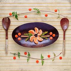 Tangerine Dinner Plate Art