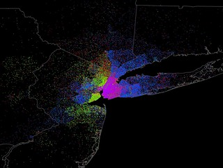 Manhattan Commuting Flows by Mode