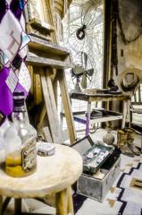 An artist's workshop