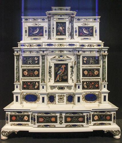 Cabinet, Anonymous, Opificio delle pietre dure, Johann Spitzmacher, c. 1660 - c. 1670