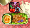 Pork Chop and Shredded Veggies Bento