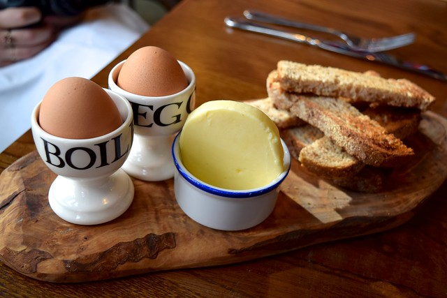 Boiled Eggs & Ancient Grain Soldiers at The Fish & Chip Shop, Liverpool Street