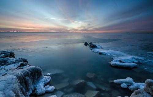 longexposure winter sun lake snow ice water wisconsin clouds sunrise nikon rocks lakemichigan greatlakes east milwaukee lakeshore tamron northpoint lakefront frozentundra fozen mke belowfreezing leefilters nikond7000