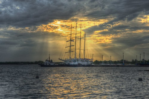 sunset sky puerto barco ship cuba puestadesol cienfuegos goldenlight