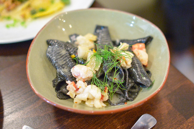 SQUID INK GARGANELLI lobster, fennel, meyer lemon, truffle butter
