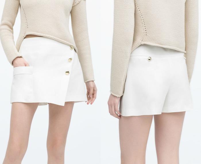 falda papiro Zara
