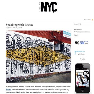 Check out interview with Brooklyn-based Moroccan artist Rocko @spreadart, and see images of his artwork and collabs with @eelcovirus @ncarlosj and more on today's post on StreetArtNYC.org
