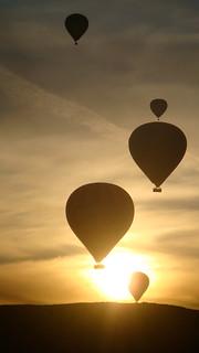 Ballons at sunset
