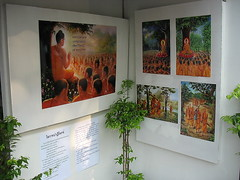 posters explaining the meaning of makha bucha day