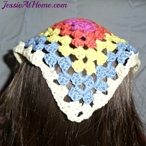 Free Crochet Pattern For Head Scarf : Cotton Bamboo Head Scarf Free Crochet Pattern Jessie ...
