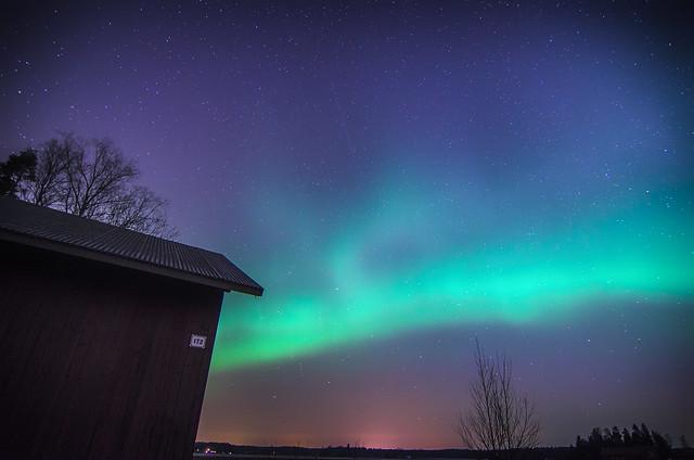 sacce22 - first shot of northern lights,aurora borealis