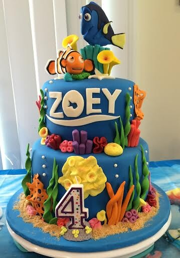 Finding Dory Themed Cake by Marra Foronda