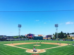 Nice day for ball game.