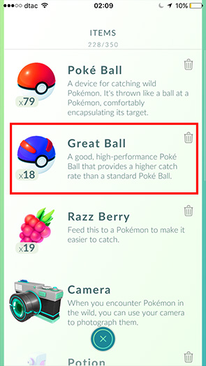 Great ball Pokemon Go