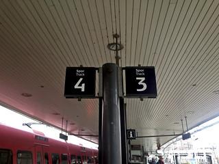 Track 3 and 4 at Vesterport, Copenhagen