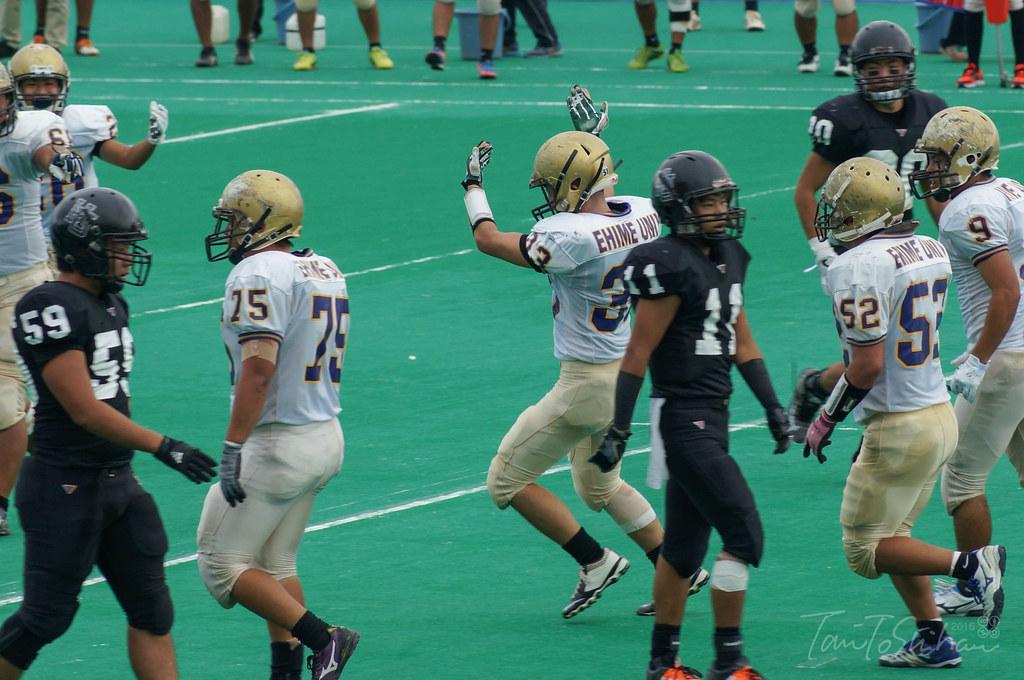 広島大ー愛媛大(中四国学生アメリカンフットボールリーグ 決勝トーナメント1回戦)