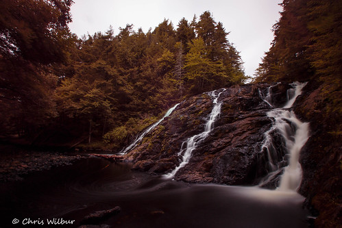canada water black long falls cascade exposure atlantic brook gloomy nova scotia antigonish
