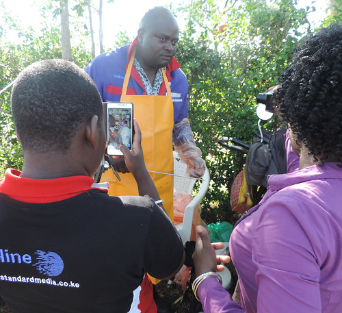 Feed the Future Kenya AVCD Dairy Media Roundtable and field visits, 19-20 October 2016: Local Vet answers questions from the local press