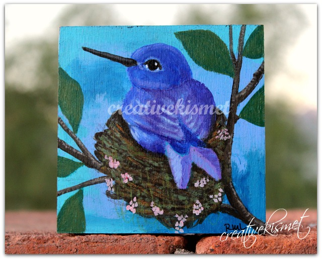 Little Blue Hummingbird - Art by Regina Lord