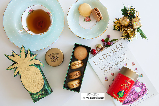 Ladurée Exotic Gift Box of Holiday 2014 limited edition macarons & TWG Noel London tea