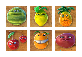 free Funky Fruits slot game symbols