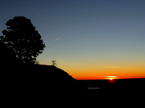 morning mountains tree sunrise landscape colorado contrail hiking silhoutte